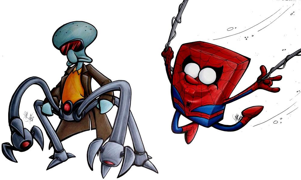Spider-Sponge_Doc-Squid